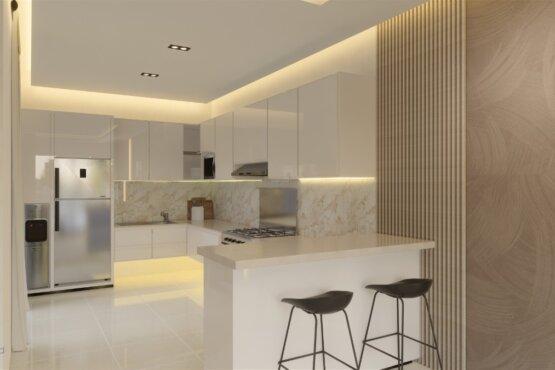 interior rumah gaya kontemporer semarang
