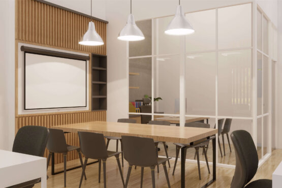 desain kantor gaya modern