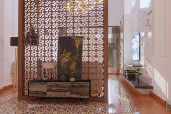 interior ruang keluarga gaya modern