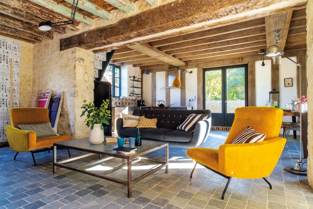modern retro interior decor
