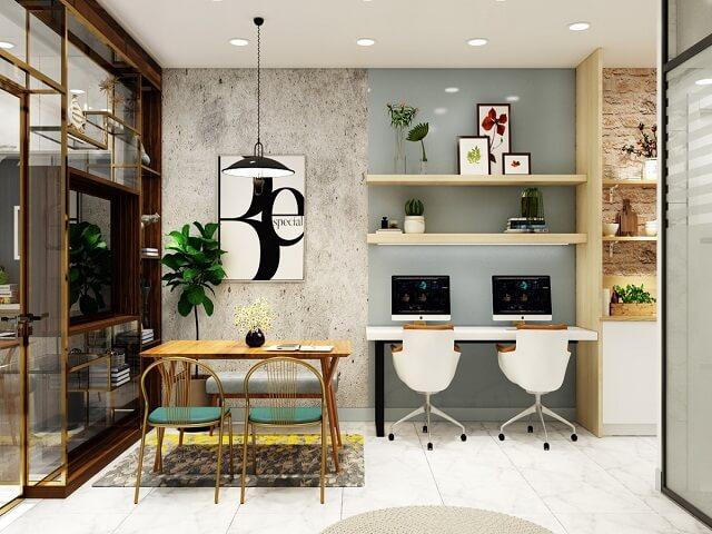 Desain Ruang Kantor Kecil Manfaatkan Sisa Ruang Yang Ada Di Rumah Interiordesign Id