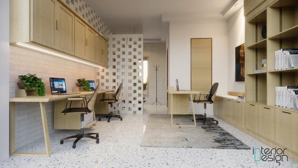 interior kantor modern natural