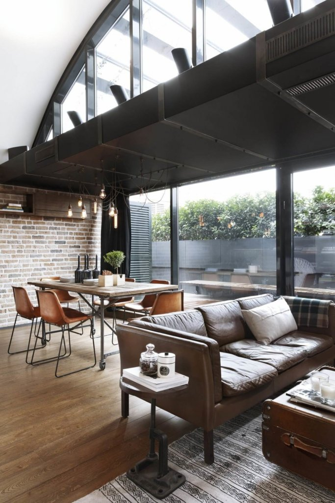 model sofa gaya industrial