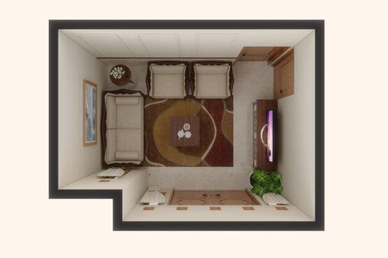 interior ruang tamu bekasi