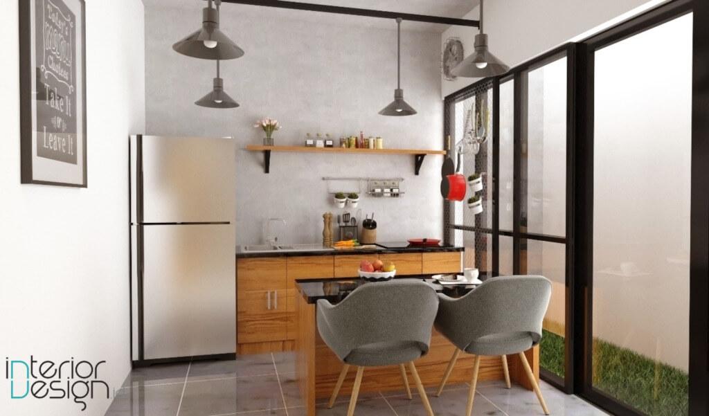 desain dapur dan ruang makan sempit