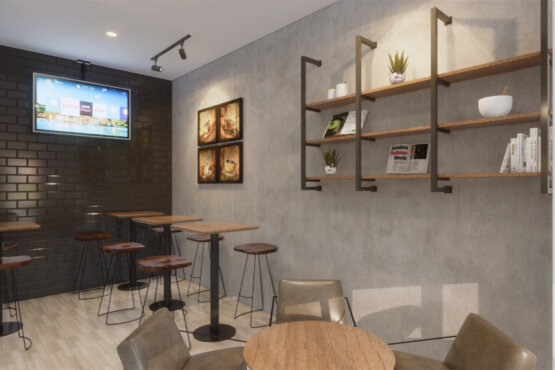 desain coffee shop jakarta