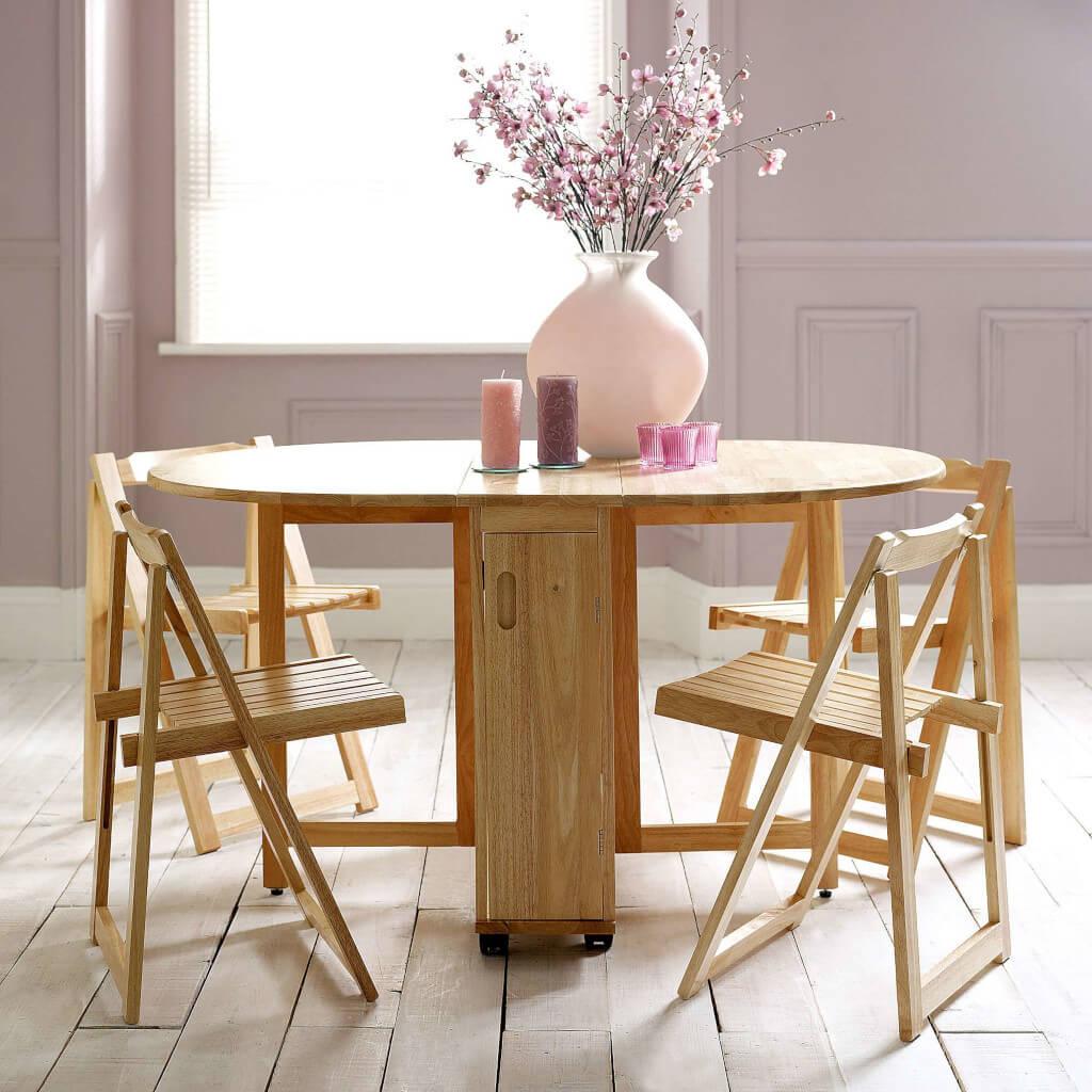 Meja makan bentuk bulat