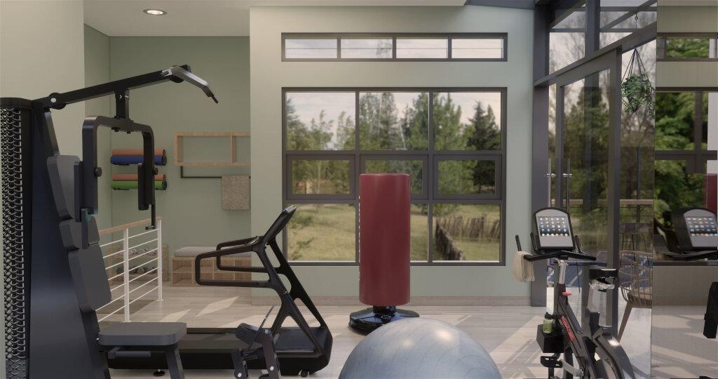inspirasi gym design di interior rumah skandinavian