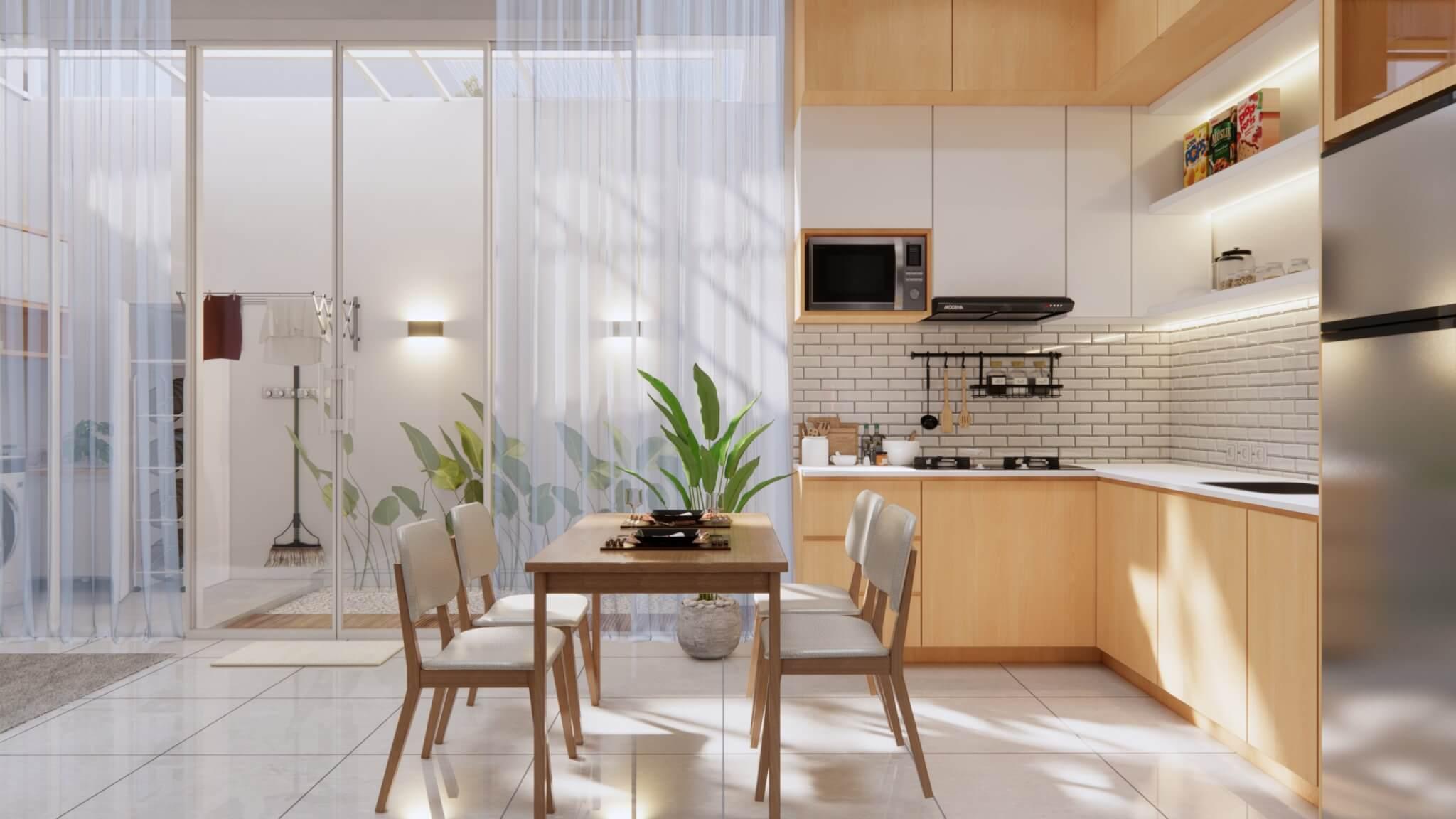 ruang makan dapur kecil