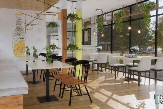 Desain cafe modern bekasi