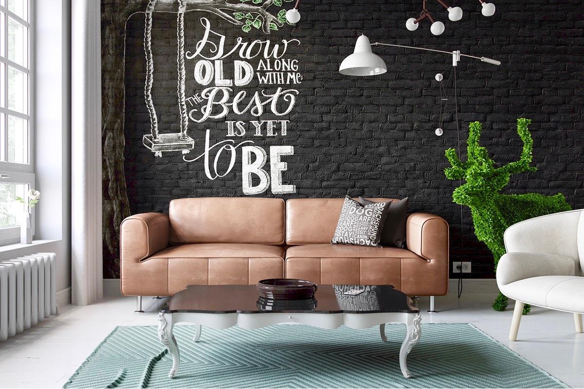 dekorasi dinding bata eskpos