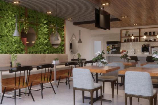 interior cafe bandung