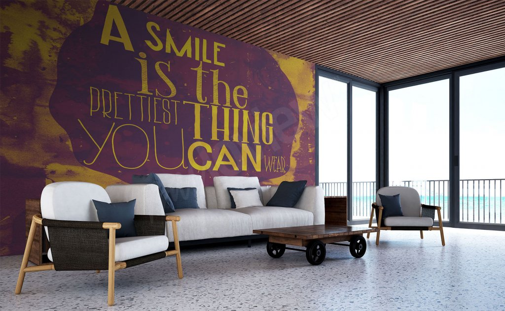 wall mural typography