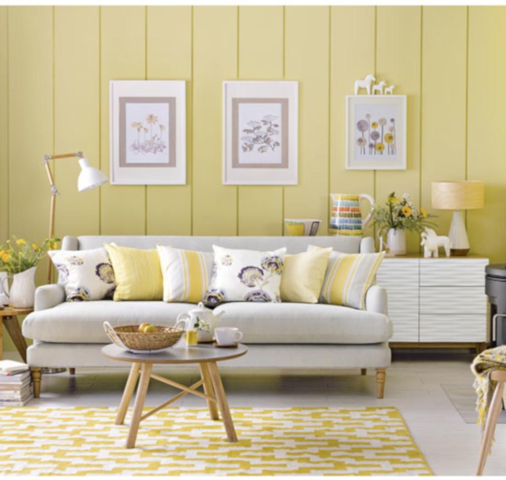 interior dengan dominan warna lemon