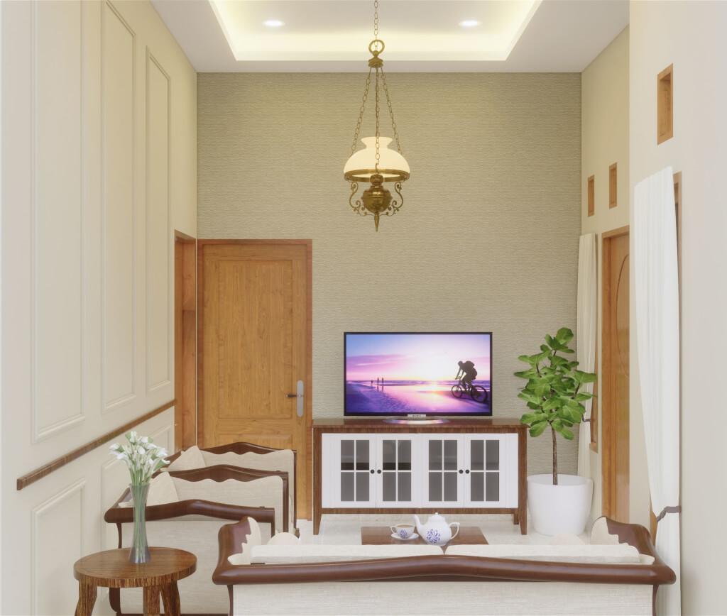 desain interior ruang tamu bekasi 2