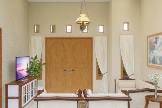 desain interior ruang tamu klasik