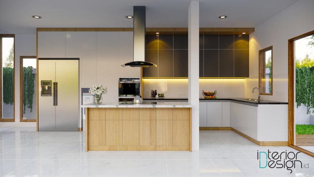 interior dapur dan ruang makan modern