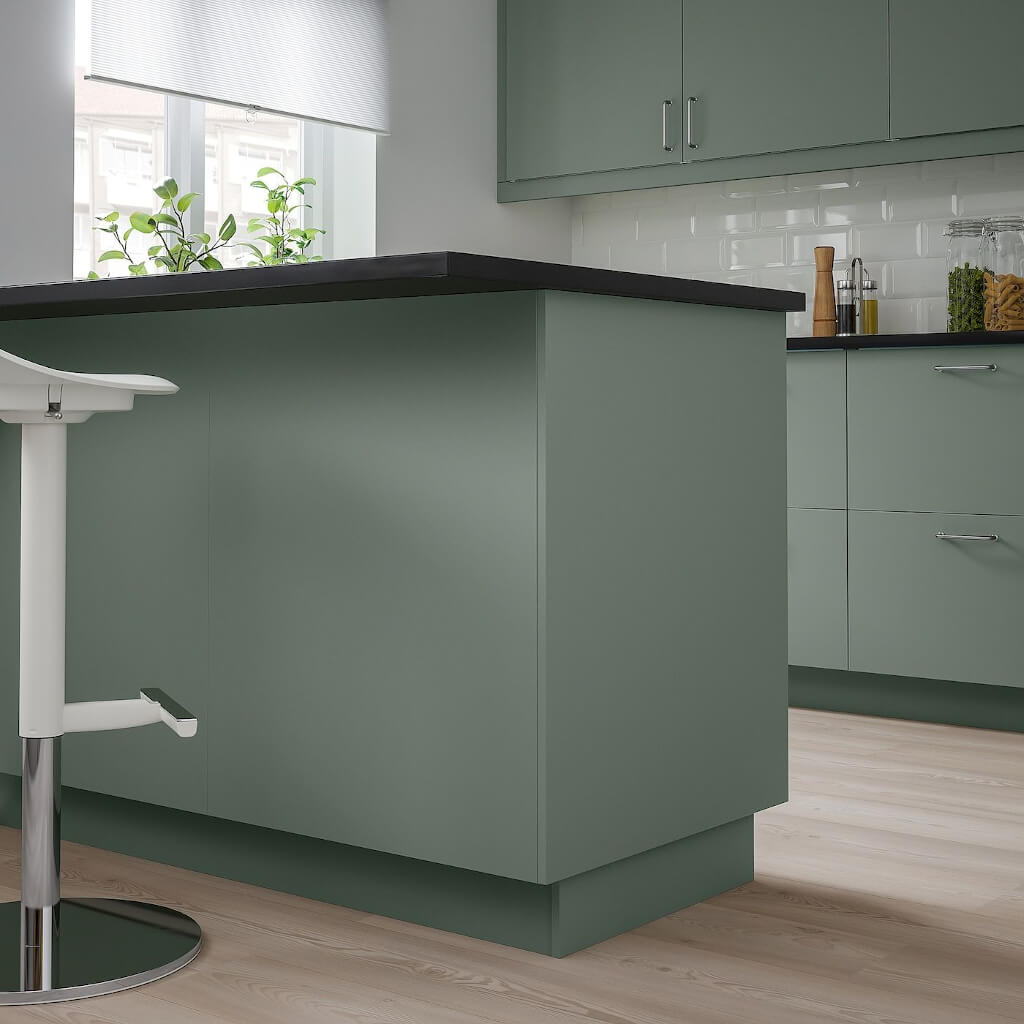 warna cat dapur abu abu hijau - Inspirasi Desain Warna Cat Dapur Terbaik, Menjadikan Dapur Terlihat Lebih Menyenangkan