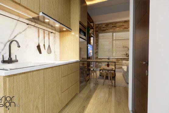 interior apartemen modern industrial bandung