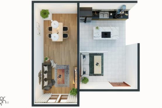 interior rumah minimalis modern bekasi