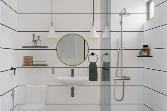 desain kamar mandi kamar tidur utama