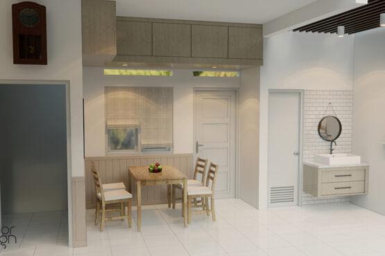 desain living room dining room bogor