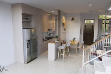 desain dapur ruang makan ruang keluarga depok