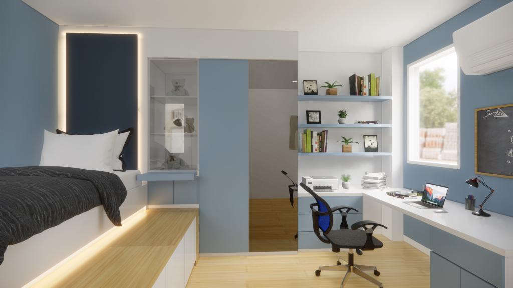 desain kamar tidur anak duren sawit jakarta