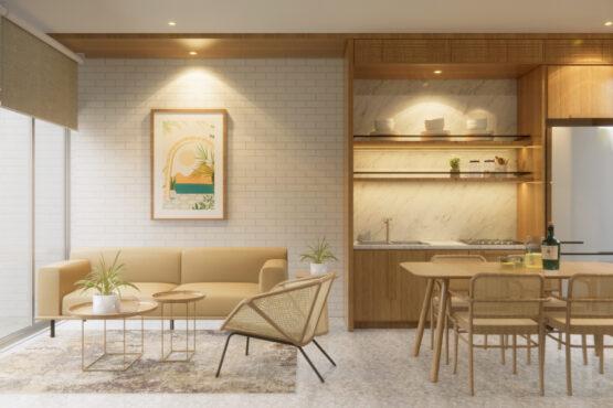 desain ruang keluarga dan ruang makan jakarta