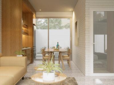 desain ruang keluarga dan dapur jakarta
