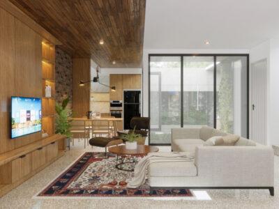 desain rumah modern tropikal jakarta