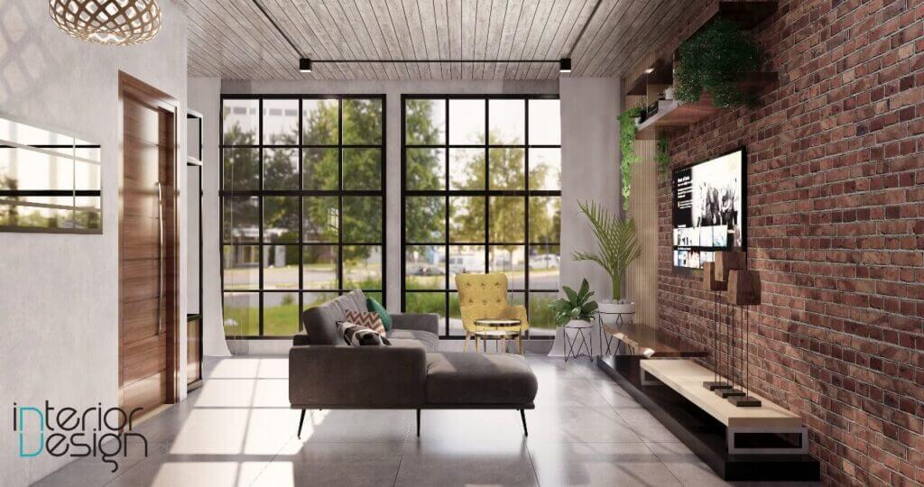 desain interior ruang tamu, ruang keluarga