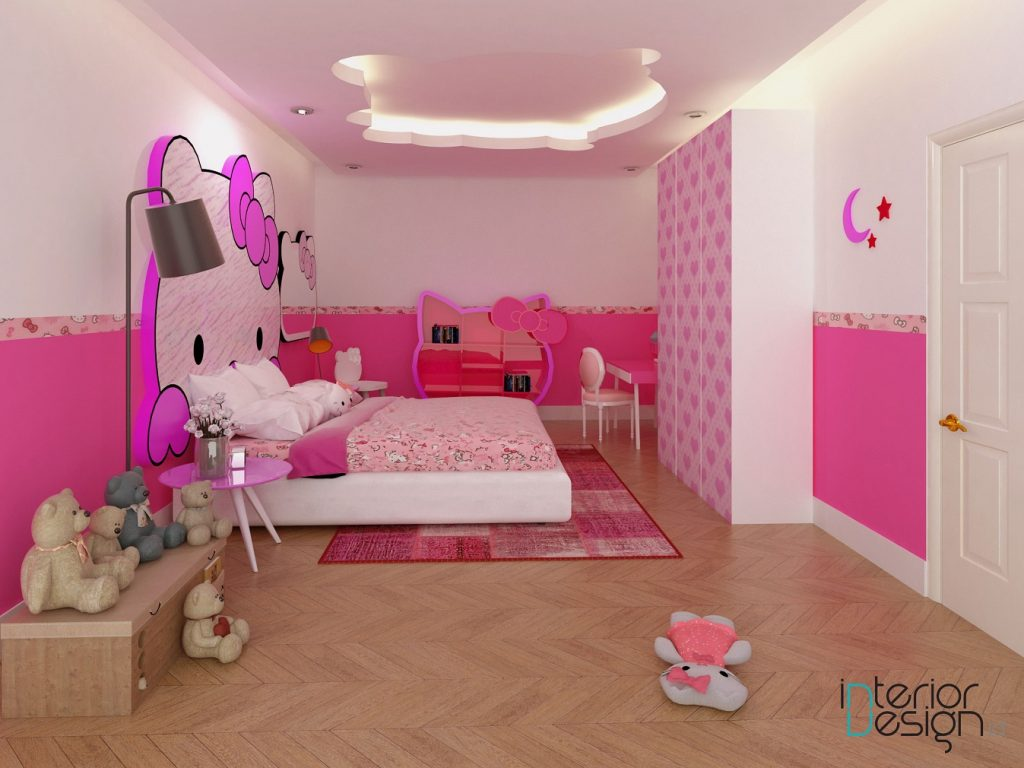 Desain kamar tidur anak tematik, Lamongan, Jawa Timur.