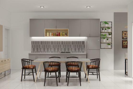 desain ruang makan dan dapur modern