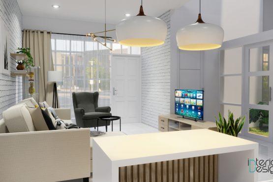 interior ruang keluarga gaya skandinavia