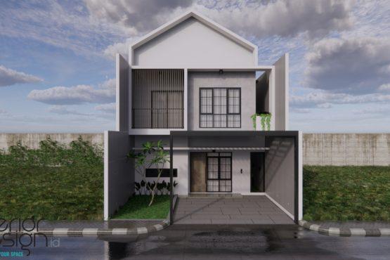 desain facade rumah minimalis modern jakarta