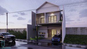 desain rumah minimalis 2 lantai, hunian modern kekinian