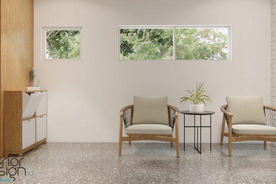 interior rumah gaya industrial natural
