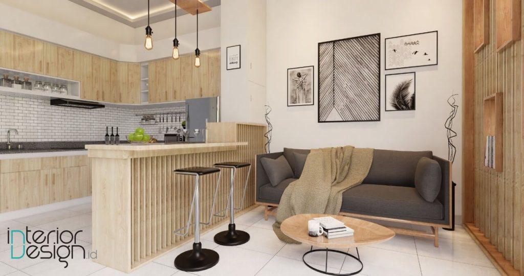 desain pantry dan ruang keluarga, ruang tamu gaya modern
