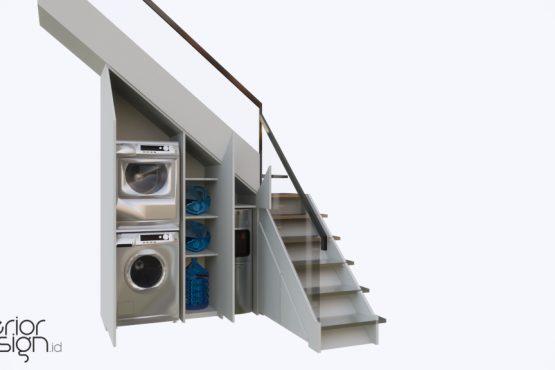 desain area tangga ruang makan