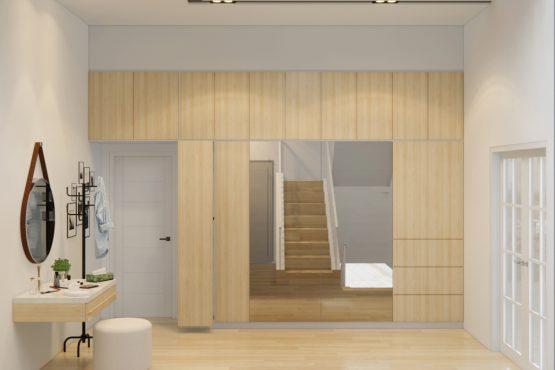 desain ruang makan dan walk in closet jambi