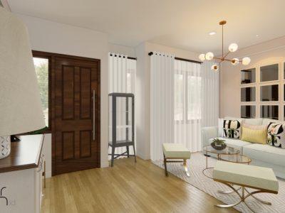 interior ruang tamu modern klasik