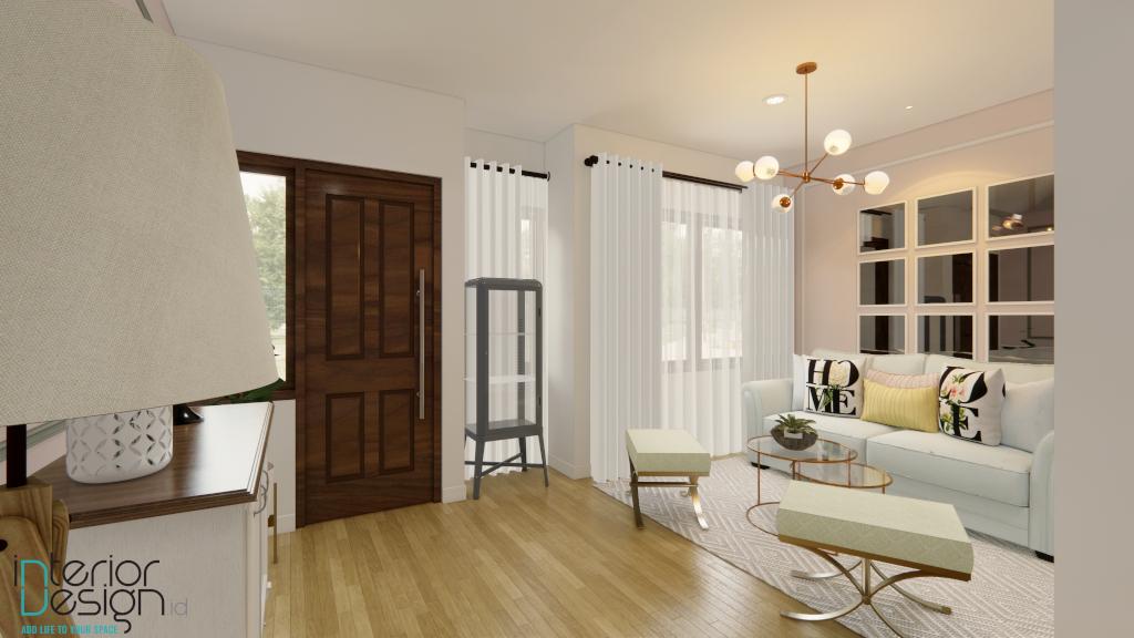interior ruang tamu mewah modern klasik