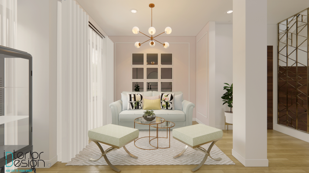 interior ruang tamu modern klasik yang mewah dan minimalis