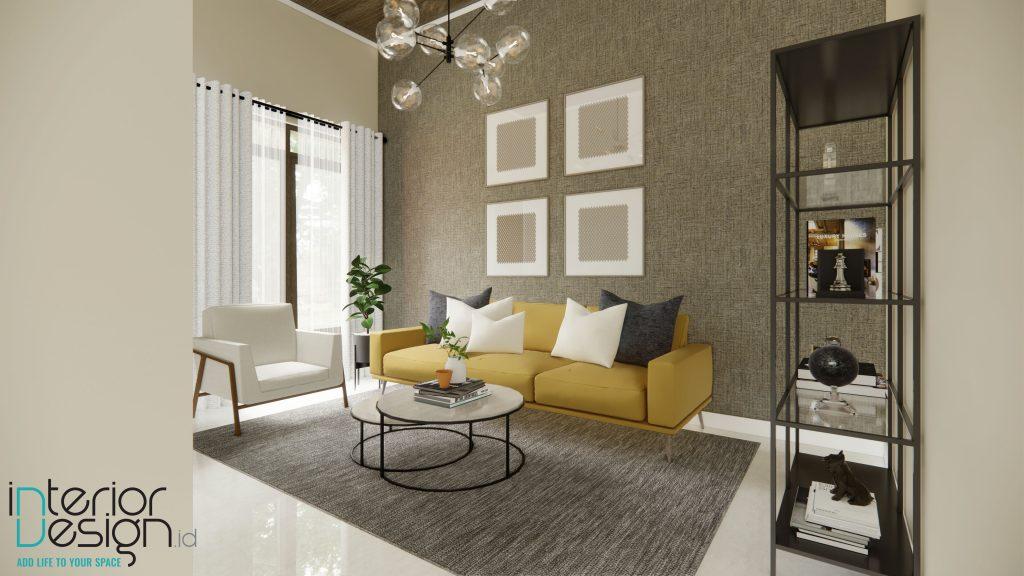 model gorden cantik dan mewah di ruang tamu modern minimalis