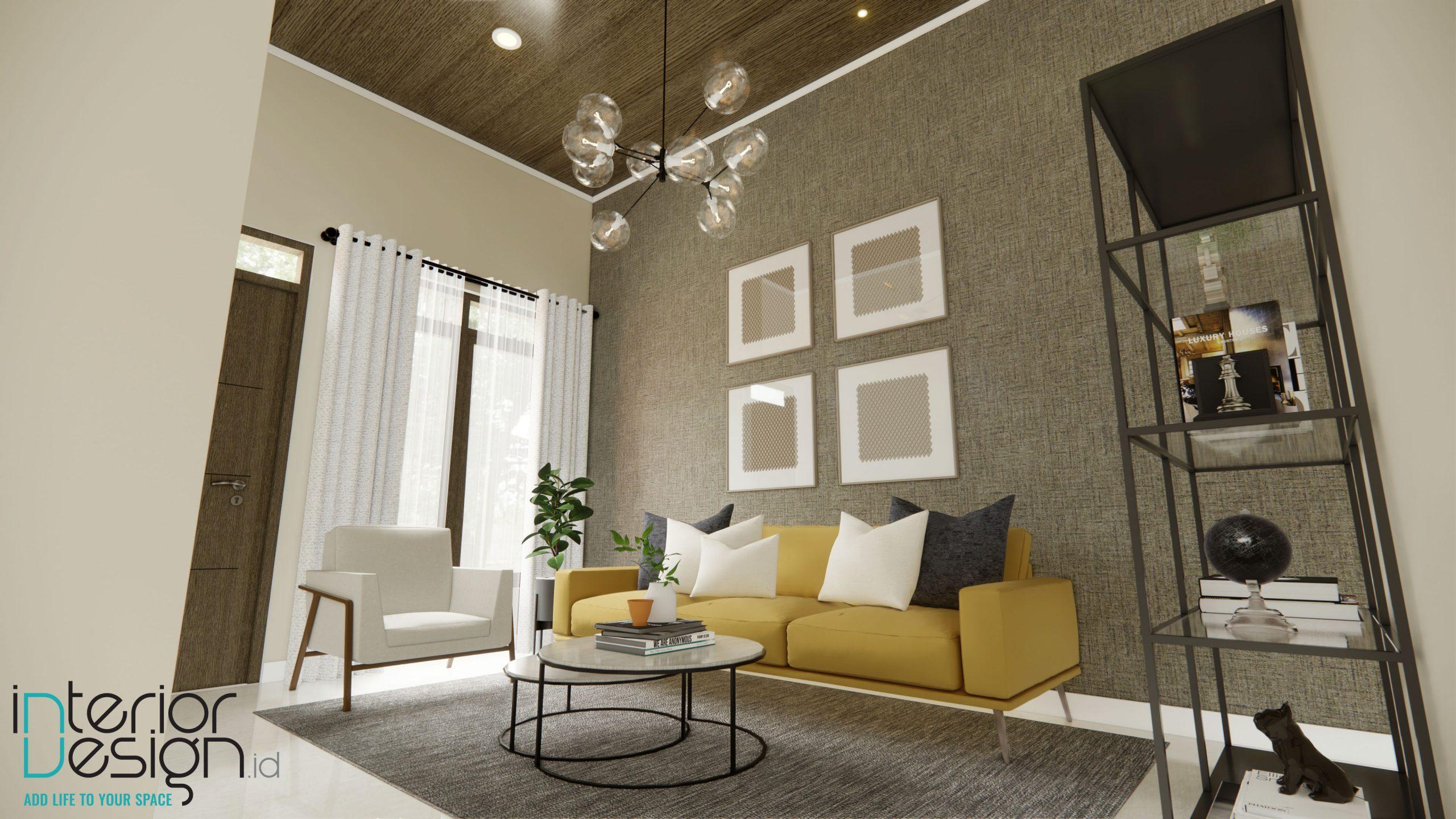 Interior ruang tamu modern minimalis