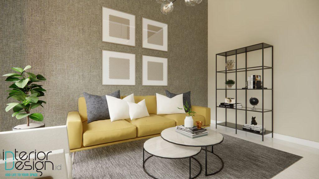Interior ruang tamu modern minimalis mewah