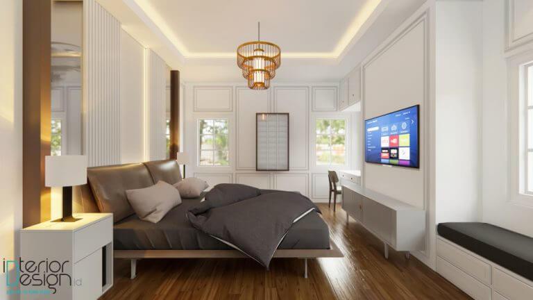 interior kamar tidur modern amarican style