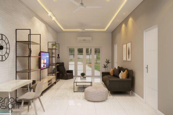 desain ruang tengah rumah modern