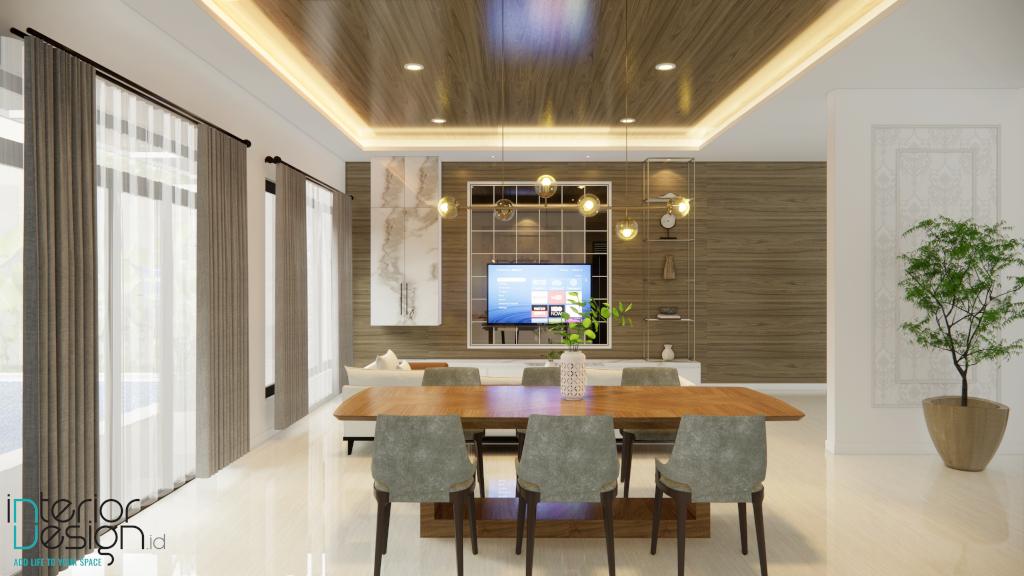 interior rumah gaya klasik modern